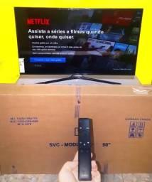 "SMART TV 4K ULTRA HD 50"" NOVA Na GARANTIA (NUNCA USADA)"