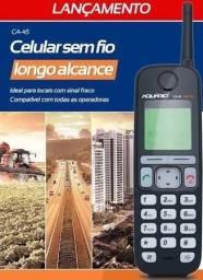 Telefone rural sem fio Aquário longa distância homologado pela Anatel