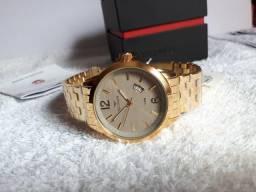 Relógio Technos Dourado Novo