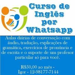 Aula Particular de Inglês Diária por Whatsapp
