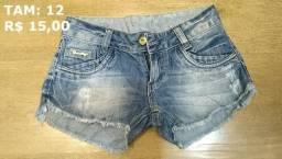 Short Jeans Infantil Feminino - Tam 12