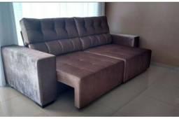 Sofá retrátil reclinável novo com diversas opções de cores e tamanho