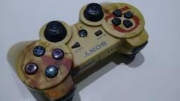 Controle Original Dualshock 3 Ps3 Playstation 3 Edição Limitada God Of War