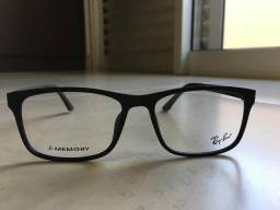 Óculos Grau Ray-ban Acetato Preto