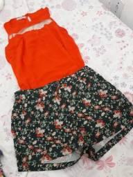 Blusa + short