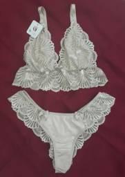 Conjunto de lingerie de renda