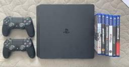 PS4 2 CONTROLES + 5 Jogos