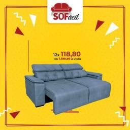 Sofá Retrátil e Reclinável Tivoli 2,30 mts