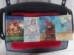 Livros: Viagem ao Brasil, Aforismos, A Volta ao Mundo em 80 Dias e Metamorforses