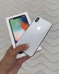 Vendo IPhone X 64gb branco impecavel.