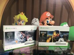 Xbox one s 1tb + jogo exclusivo. Visite nossa loja!