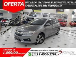 Título do anúncio: Honda City 1.5 EXL 16v FlexOne 4p Automático CVT Top de Linha Baixa KM