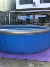 Piscina inflável 7.340L + Filtro + Capa + Bomba + Medidor de PH + Peneira