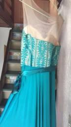 Vestido para Formatura, Casamentos e eventos (cor esmeralda)