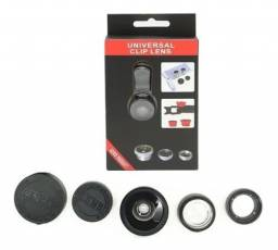 Kit lente celular 3 em 1 Universal
