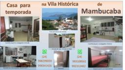 Título do anúncio: Casa para temporada na Vila Histórica de Mambucaba