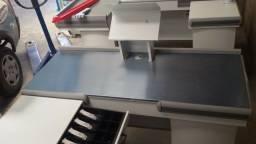 Caixa Check-out em Aço para Comércios