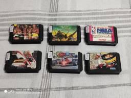 Lote Jogos Mega Drive - Aceito Cartão
