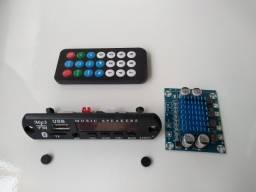 Kit Placa Usb + Amplificador 30+30W dois Canais