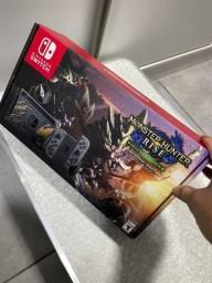 Título do anúncio: Nintendo switch 32gb monster Hunter rise deluxe edition