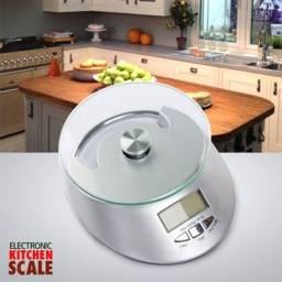 Balança Digital eletrônica de Cozinha comércio de precisão com relógio
