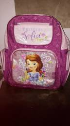 Bolsa linda da princesa Sofia muito bonita