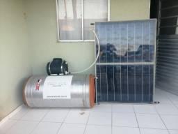 Aquecedor e placa solar