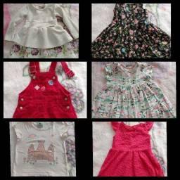 Título do anúncio: Lote roupas menina 1 a 3 anos