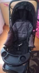 Título do anúncio: carrinho de bebe + bebe confornto