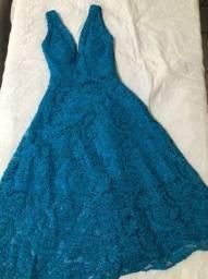 Vestido Midi turquesa
