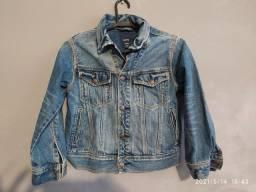 "Jaqueta jeans GAP ""S"". veste 7/8/9 anos. Unissex"