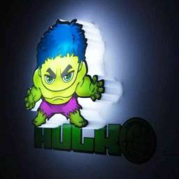 Mini Luminária 3d Marvel Vingadores - Hulk