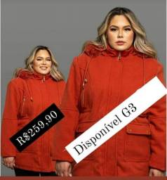 Casaco Lã Batida Plus Size