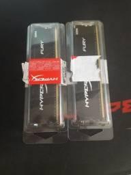 Título do anúncio: Memória HyperX Fury,  8GB (2 pentes de 8GB)