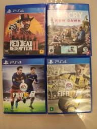 Jogos PS4- Farcry New Dawn, Red Dead Redemption, FIFA 16/17