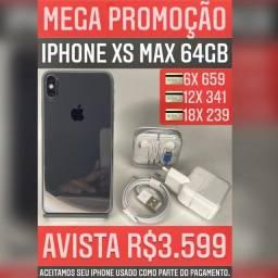 iPhone XS Max 64GB. Aceitamos seu iPhone como parte do pagamento!