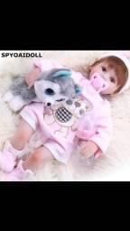 Boneca bebê menina reborn de silicone realista 43 cm