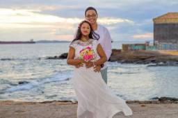 Vestido branco Pre Wedding ou casamento