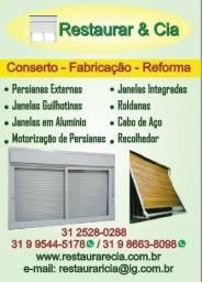 Conserto Manutenção e Reforma Esquadrias/ Janelas alumínio e Madeira/ *