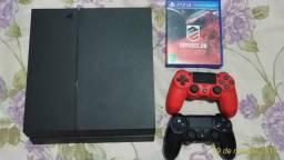 PS4 1TB com 2 controles e 1 jogo