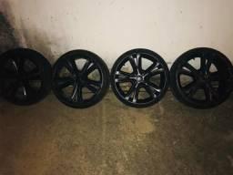 Rodas aros 17 com 4 pneus zero 185/35