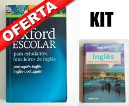 Kit Dicionário Inglês Oxford Escolar + Guia de Conversação