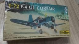 Avião tipo kit plástico para montar do Corsair F4U-1D, escala 1/72, da Heller