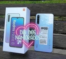 Maravilhoso! Redmi Note 8 da Xiaomi. Novo lacrado com garantia e entrega