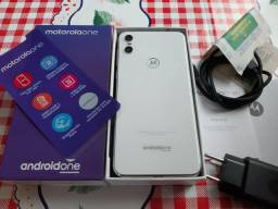 Moto one 64gb Branco Zeroo Completo Urgente