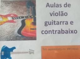 Aulas profissionalizantes de violão guitarra e contrabaixo promoção de Janeiro