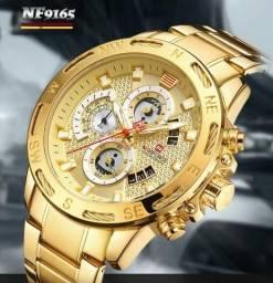 Relógio Top de Luxo - Naviforce Dourado 9165