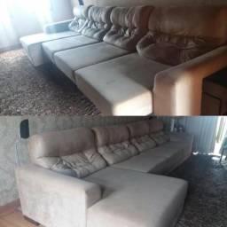 Sofá reclinável de auto padrão