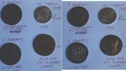 Medalhas de brasilia e moeda de franco