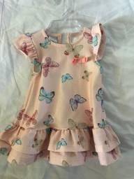 25,00 vestido menina até seis meses
